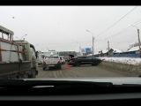 трасса М53 27.12.2013 за Тогучинским постом в сторону Новосибирска
